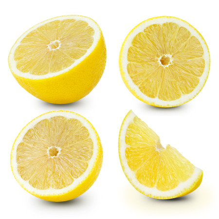 Lemon fruits collection Clipping Path 版權商用圖片