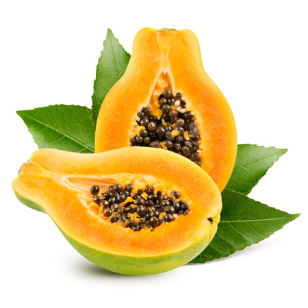 Papaya isolated on white background Banque d'images
