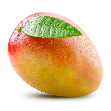 mango: Ripe mango isolated on white Clipping Path