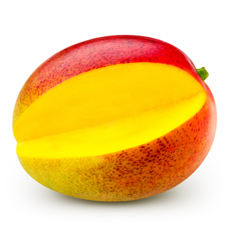 ripe: Ripe mango isolated on white Clipping Path