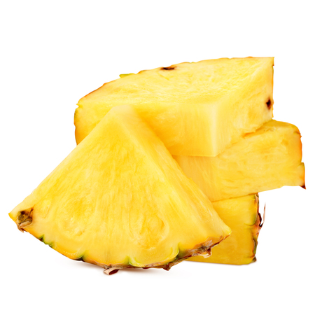 pineapple with slices isolated Clipping Path Foto de archivo