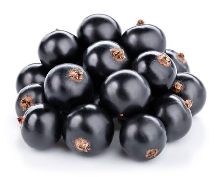 foodstill: Black currants berries isolated on white Stock Photo
