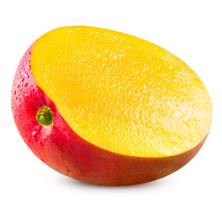 完熟マンゴーは白いクリッピング パスの分離 写真素材