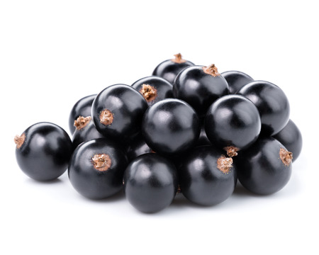 black currant: Black currants berries isolated on white Stock Photo