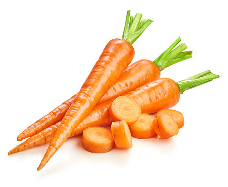 Fresh carrots isolated on white Imagens - 64386775