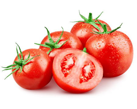 vegetables on white: Tomato vegetables isolated on white background  Clipping Path