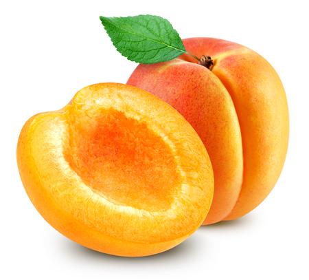 owoce moreli na białym tle Zdjęcie Seryjne