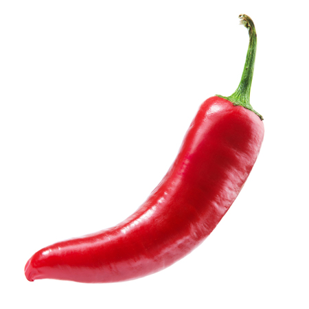 peppers red on a white background. Clipping Path
