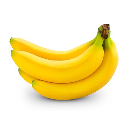 banaan op wit wordt geïsoleerd Stockfoto