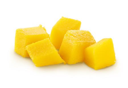 Ripe mango isolated Stock Photo