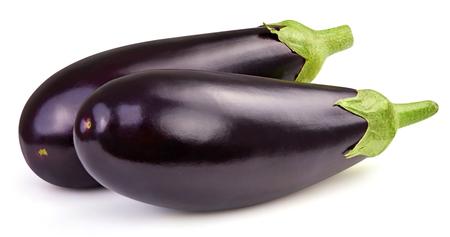 Eggplant isolated on white Standard-Bild