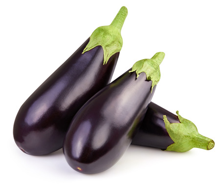 Eggplant isolated on white 스톡 콘텐츠