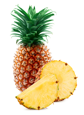 pineapple leaf isolated background