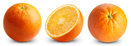 Orange fruits isolated