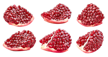 Pomegranates isolated on white