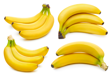 Bunch of bananas isolated on white 版權商用圖片