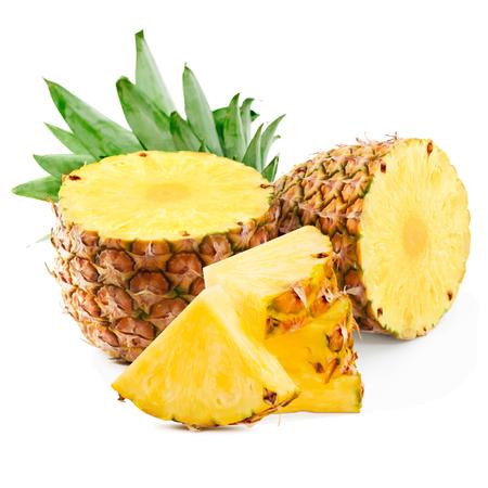 Ananas-Frucht-Vektor-Illustration. Ananas auf weißem Hintergrund