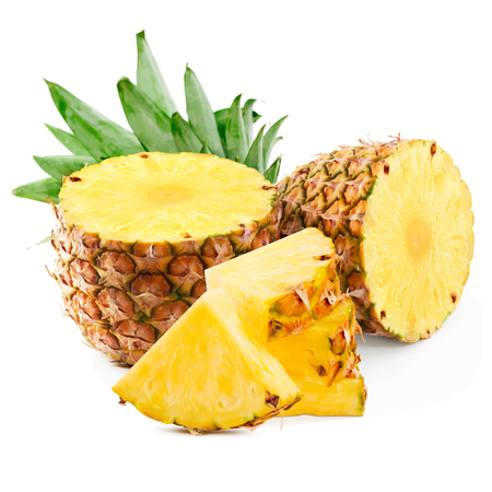 Illustration vectorielle de fruits ananas. Ananas sur fond blanc