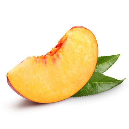 Pfirsichfrucht-Vektorillustration. Pfirsich auf weißem Hintergrund
