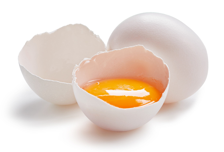 With egg isolated on white
