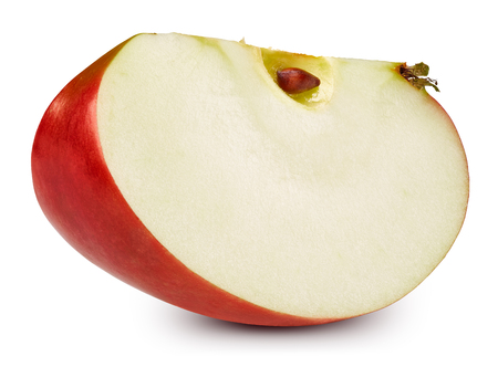 Mela rossa isolata su bianco