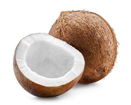 Noix de coco isolé chemin de détourage