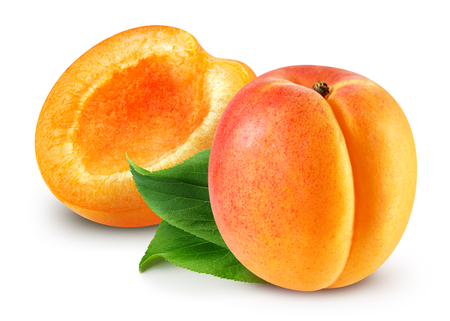 Apricot isolated Clipping Path