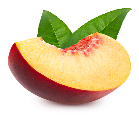 Peach isolated Clipping Path