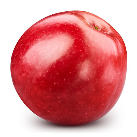 Red apple isolated on white