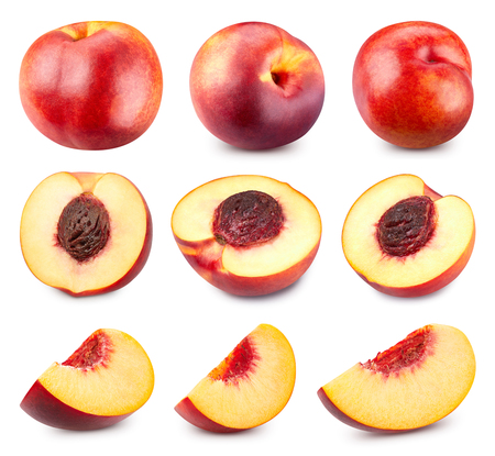 Peach collection isolated Clipping Path Imagens