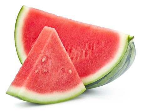 Watermelon slice isolated isolated on white
