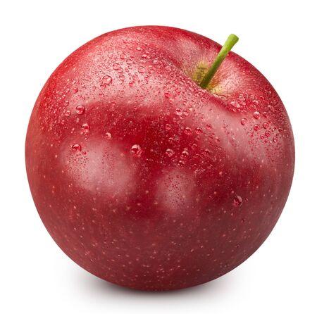 Red apple isolated on white Standard-Bild - 128009749