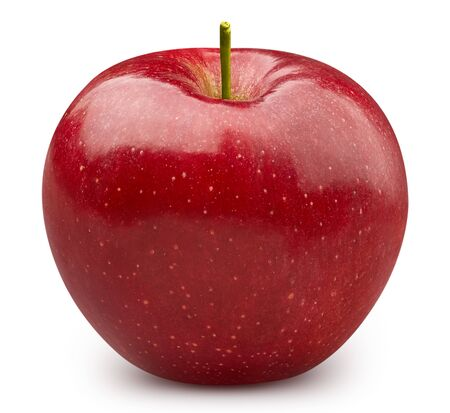 Red apple isolated on white Standard-Bild - 128009756