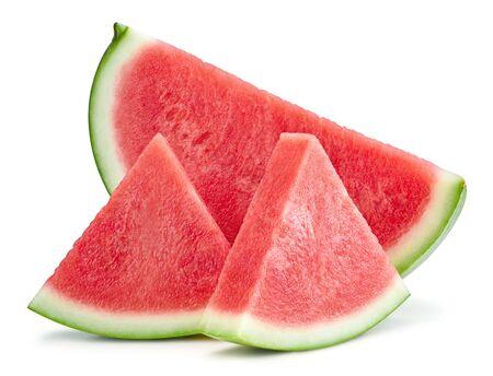 Watermelon slice isolated Clipping Path Standard-Bild - 128009782