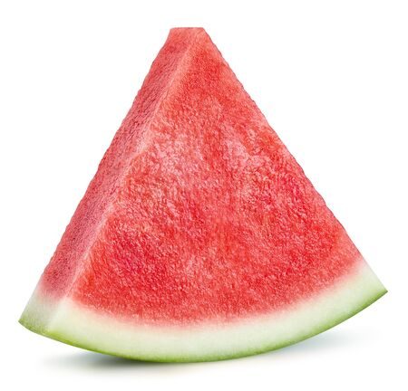 Watermelon slice isolated on white Standard-Bild - 128178603