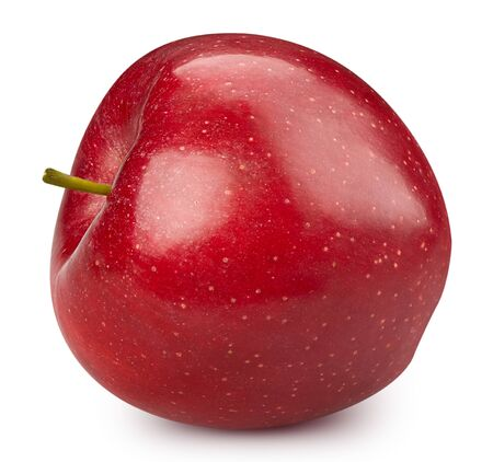 Red apple isolated on white Standard-Bild - 128507960