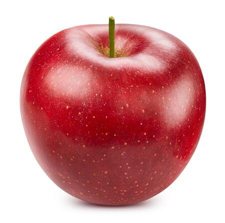 Manzana roja aislado en blanco Foto de archivo