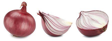 Onion isolated on white Standard-Bild - 128618039