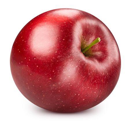 Red apple isolated on white Standard-Bild - 128697263