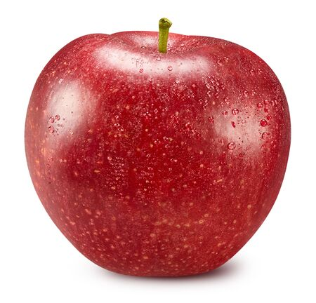 Red apple isolated on white Standard-Bild - 129155463