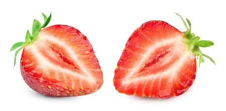 Strawberries isolated on white Standard-Bild - 129155486