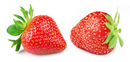 Strawberries isolated on white Standard-Bild - 129155498