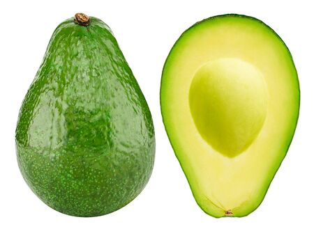 Avocado collection isolated on white. Standard-Bild - 129553254