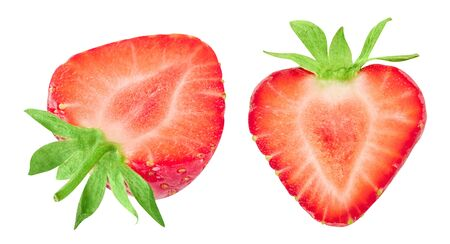 Strawberry collection isolated on white. Standard-Bild - 129553257
