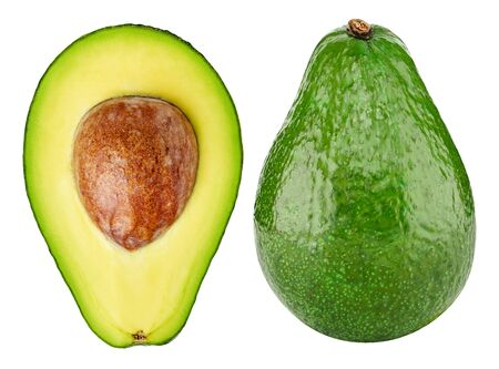 Avocado collection isolated on white. Standard-Bild - 129553268