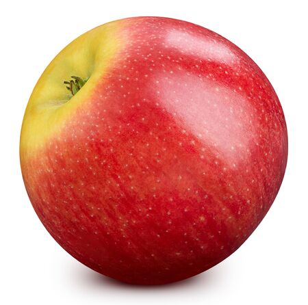 Red apple isolated on white. Apple Clipping Path. 스톡 콘텐츠