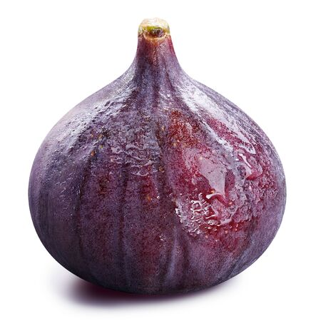 Fig isolated on white background. Fig Clipping Path.