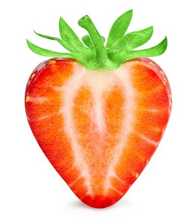 Strawberry isolated on white background. 스톡 콘텐츠