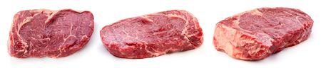 Beef steak isolated on white background. Raw beef isolated on white