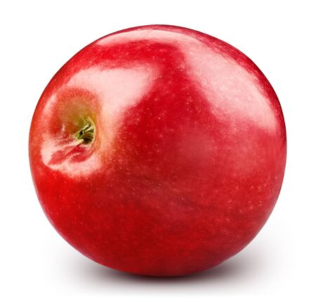 Red apple isolated on white background. 스톡 콘텐츠